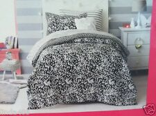 XHILARATION 6 PIECE BED IN A BAG SET BLACK WHITE CHEETAH PRINT TWIN REVERSIBLE