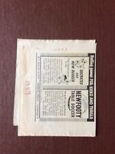 K1a Ephemera  1950s Advert W L Keeling New Footy Table Soccer Rugger Socrates
