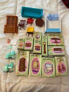Lot of 20 Vintage MARX Dollhouse Plastic Furniture - Little Miss Deb