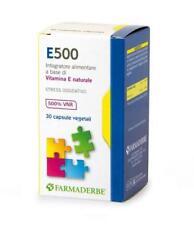 E500 Farmaderbe - Integratore a base di Vitamina E Naturale - 30 Cps