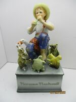"""Vintage Collectible Norman Rockwell Schmid Music Box """"Talk to the Animals"""""""