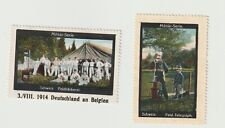 Swiss. x2 Militar-Serie poster stamps in Very good & Clean (3.Vlll 1914) with Fu