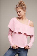 NWT Sz XL Anthropologie Asymmetrical Ruffle Top Pink Blouse By Postmark Size 16
