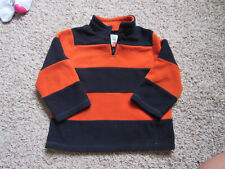 The Childrens Place 4T Orange Navy Blue Fleece Jacket Boys Fall Photos Winter