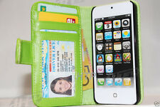 Aqua Colour Wallet Flip Card Leather Pouch Case Cover for Apple iPhone 5 5G 5S