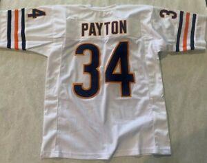 UNSIGNED CUSTOM Sewn Stitched HOF WALTER PAYTON WHITE  Jersey - XL