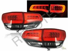 2014-2017 Jeep Grand Cherokee Limited LED Tail Lights Red Smoke Black RH & LH