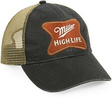 Miller High Life Black Tan Mesh Back Cotton Cap 731a211d5faf