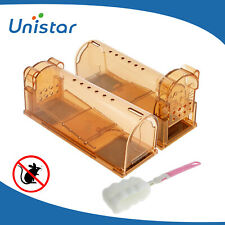 No Kill Live Catch Mouse Traps Humane Release Mice Rat Rodent Cage Catcher 2Pk