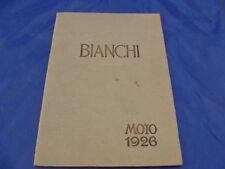 BROCHURE MOTO BIANCHI 1926 DEPLIANT PUBBLICITA' PROMO EDOARDO BIANCHI OLD ITALY
