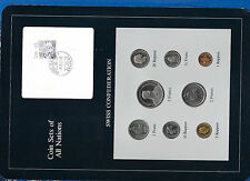 Coin Sets of All Nations Switzerland 1981-1984 UNC 1/2 & 1 Franc 1982