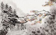 Enmarcado impresión tradicional oriental obra de arte (Imagen Arte Chino Japonés Asiático)