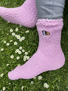 Guinea Pig Slipper Socks Ladies Socks Embroidered Socks Guinea Pig Gift Idea