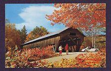 LMH Postcard  ALBANY COVERED BRIDGE  Swift River Conway  ALBANY NH Single Span f
