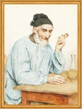 Fully Bauer at Table Albert Anker 1908 Swiss painter Whistle LW H a2 0614