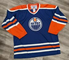 Vintage 90s NHL Edmonton Oilers CCM Hockey Jersey Sz XXL made in USA
