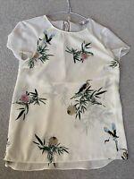zara trafaluc t-shirt / Blouse Beautiful Silk Feel With Chiffon Shoulder Size Xs