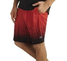 Men's Russell Polyester Interlock Shorts Red Size Small 28-30