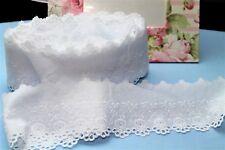 Mercerie Broderie ★Dentelle 7 cm HQ coton★ Au metre Blanc  couture D182