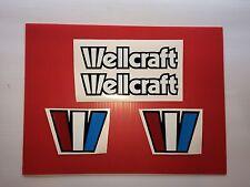 Wellcraft boat emblem stickers Free Ship  Marine Vinyl  NOT Ink-jet