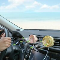 AU_ FT- KQ_ USB Car Cooling Air Fan 360° Round Single  3 Speed Rotatable Qu