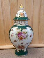 Antique Richard Klemm Meissen style Dresden Porcelain Baluster lid Baluster vase