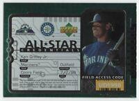 1998 UPPER DECK ALL-STAR CREDENTIALS #AS1 KEN GRIFFEY JR. — NM-MT (8)