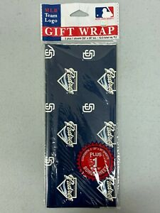 San Diego Padres MLB Baseball Gift Decorative Wrapping Paper 12.5 Square Feet