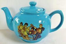 THE BEATLES Sgt. Pepper BLUE CERAMIC TEAPOT John, Paul, George & Ringo