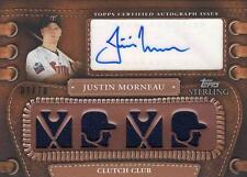 2010 TOPPS STERLING JUSTIN MORNEAU AUTO JERSEY 1/10
