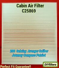C25869 Sebring Avenger Caliber Journey Compass Patriot Cabin Air Filter CF10729