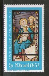 SPM  474 NEUF ** SANS CHARNIERE TTB  - NOEL 1986