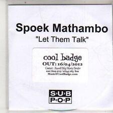 (DB124) Spoek Mathambo, Let Them Talk Ft Yolanda - 2012 DJ CD