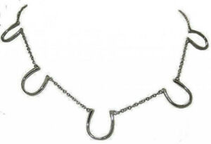 horse shoe silver necklace adjustable Pendant lobster claw fine quality NWT