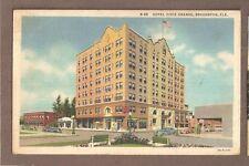 VINTAGE POSTCARD 1944 LINEN HOTEL DIXIE GRANDE BRADENTON FLORIDA
