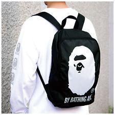 A Bathing Ape Black Nylon Backpack Bag Magazine Gift item 2015NEW