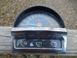 1951 Nash Statesman Ambassador Instrument Cluster Gauges ONLY 39,540 miles