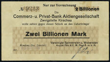 GERMANY - 2 billion mark banknote 1923 Kirschau . . .