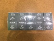 Package Of 10 NEW CEC Industries H7-Halogen Headlights 55 Watt Bulbs,