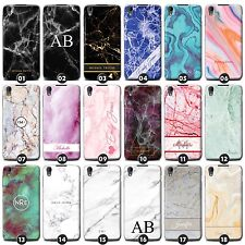 Personalised Marble Case/Cover for Blackberry Phones Initial/Text/Name/Custom