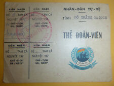 ID CARD - Saigon District Militia - Quan 3 - SON TAY (NVN) - Vietnam War - 4281