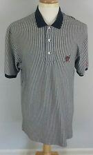Men's Polo Ralph Lauren Golf Crest Polo Shirt L Big Tall Navy Blue White Stripes