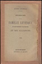 famille Levesque généalogie alliances 1890 Saint-Maixent Deux-Sèvres 1890