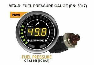 3917 Innovate MTX-D Fuel Pressure Gauge 0-145 PSI 10 BAR w/ Low Press Warning