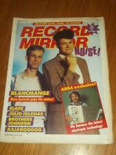 RECORD MIRROR JANUARY 15 1983 ABBA SLADE U2 BLANCMANGE JULIO IGLESIAS SOFT CELL