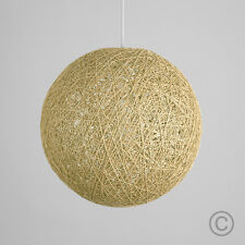 MiniSun Round Wicker Ceiling Pendant Light Shade Easy Fit Lampshade Lighting Cream Large - 40cm