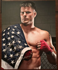 Brian Stann SIGNED UFC 11x14 Photo w/ American flag