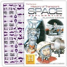 Playing Cards Space: Station Rocket Apollo Lunar Module Mars Sputnik Skylab Yuri