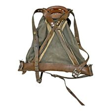 More details for vintage rucksack army mountaineer pack with frame khaki ww2 war soldier