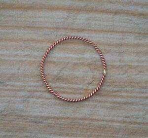 Unisex Pure Copper Bracelet Bangle. Sacred Tensor Ring Cubit Measurement.